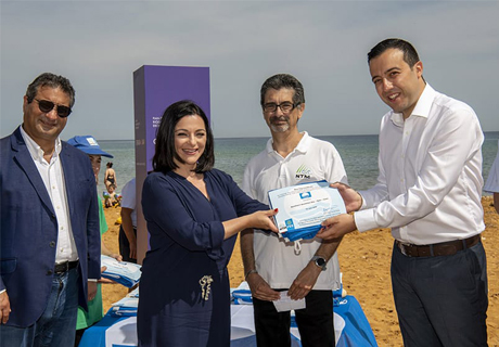 Blue Flag Raised at Ramla Bay
